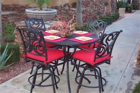 Patio Bar Table Set Pleasant Bar Height Patio Table And Chairs Boundless Table Ideas
