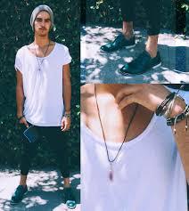 men crystal necklace images Hunter morley h m oversized swoop neck zane robe black joggers jpg