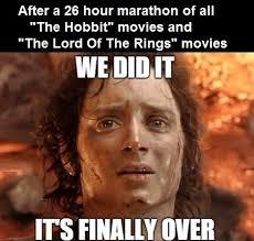 The Hobbit Meme - the marathon is over