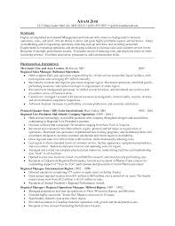 Sample District Manager Resume 6 Best Images Of Regional Sales Manager Resume Regional Sales