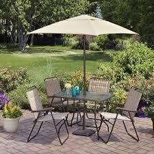 6 Chair Patio Dining Set Mainstays Glenmeadow 6 Piece Folding Patio Dining Set With