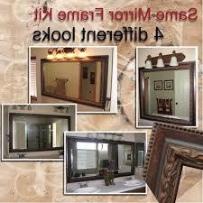 elegant and interesting bathroom mirror framing kits for home