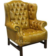 chesterfield churchill high back wing chair uk manufactured