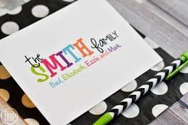 family stationery personalized colorful family stationary