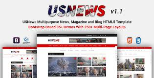 newspaper theme html5 usnews multipurpose news magazine and blog html5 template by