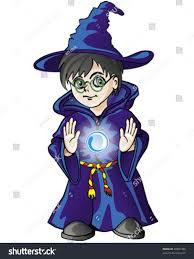halloween crystal ball with head magician boy magic crystal ball vector stock vector 28981408