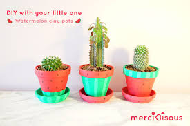 diy with your little one watermelon clay pots u2013 merci bisous