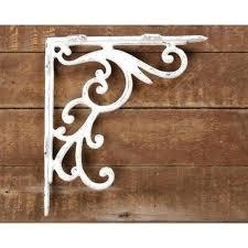 restorers 10 inch iron shelf bracket decorative shelf brackets metal