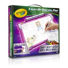 Pink Light Amazon Com Crayola Light Up Tracing Pad Pink Coloring Board