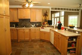 Handmade Kitchen Furniture Invigorating Cherry Maple Kitchen Cabinets Along With Ceiling Fan