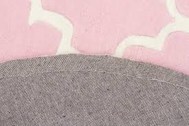 kids trellis design rug pink 150x150cm hagglehuge online