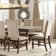 tribecca home flatiron nailhead upholstered dining chairs set of