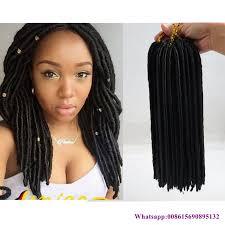 soft dread hair lengths black color 12inch synthetic soft dread crochet faux locks hair
