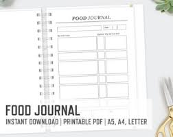 food journal etsy