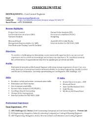 resume cost control engineer deepraj udupa