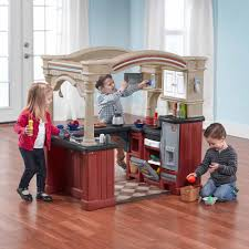 Play Kitchen Red Step2 Grand Walk In Kitchen Includes A 103 Piece Accessory Set