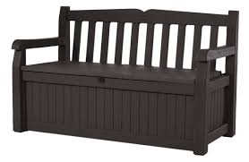 Outside Bench Keter All Weather Resin Storage Bench U0026 Reviews Wayfair