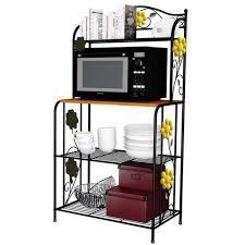 meuble etagere cuisine etagère micro ondes meuble de rangement cuisine casier métal achat