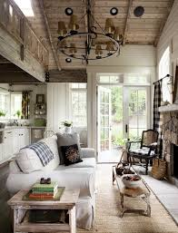 Lodge Decorating The Distinctive Cottage - Cottage living room ideas decorating
