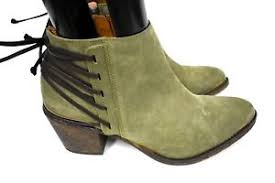 s suede ankle boots size 9 klub nico berta s suede green lace back ankle booties