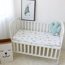 breathable sheets 1pcs baby bed sheets pure cotton cute flamingo crib sheets soft