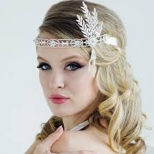 gatsby headband luxe gatsby bridal headband louise bridal