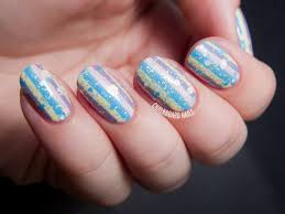 speckled stripes with lvx and formula x chalkboard nails nail