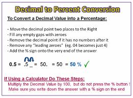 percent to decimal converting decimals to percentages passy s world of mathematics