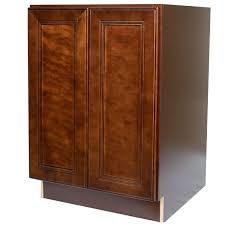 Mahogany Kitchen Cabinet Doors 24 Inch Full Height Door Base Cabinet In Leo Saddle With 2 Soft