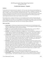 risk description template risk analysis checklist and templates for managers