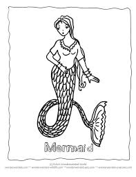 simple kitty coloring pages mermaid cartoon coloring