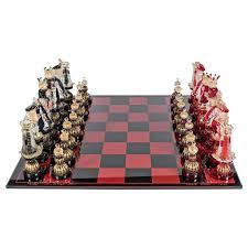 mid century modernist handblown murano glass chess set at 1stdibs