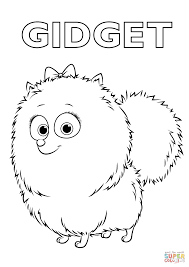 gidget from the secret life of pets coloring page free printable