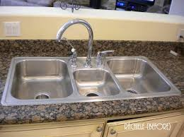 Discontinued Sinks Custom Made Stainless Steel Top Mount - Triple sink kitchen