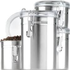 Black Canister Sets For Kitchen Canister Set 4 Piece Stainless Steel Kitchen Storage Coffee Sugar