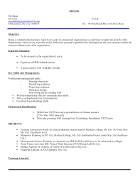 Achievements In Resume Examples For Freshers by Fresher Hr Executive Resume Model 103