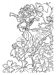 flower fairy mallow coloring page for kids for girls coloring