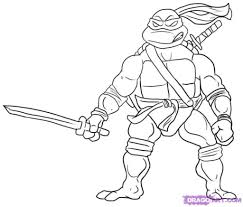teenage mutant ninja turtles coloring pages intended