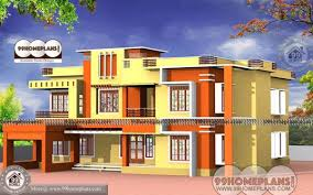 economical homes design of house front view with low economical double floor homes