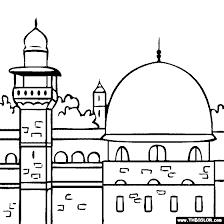 al aqsa mosque al masjid al aqsa coloring islamic craft