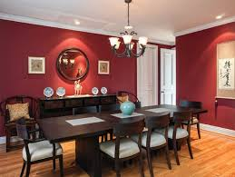 red dining room photos chair slipcovers table ideas decor wall