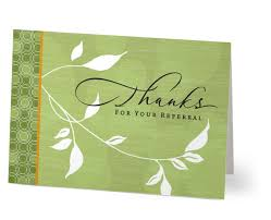 thanks for referral card thank you cards hallmark business