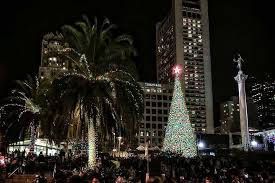 sf christmas tree lighting 2017 union square christmas tree lighting 2017 union square shopping