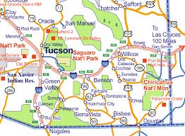 map of az city of rocks map of arizona