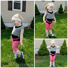 toddler halloween leggings microfashion monday work it out 80s aerobics costume aerobics