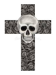 skull cross stock illustration illustration of