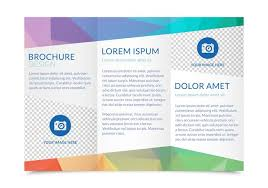 red trifold brochure template vector free download tri fold