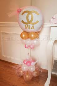 chanel baby shower chanel table centerpiece seattle balloon decorations