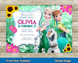 frozen fever invitation for birthday party frozen birhtday