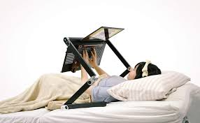 lay down computer desk a desk that lets you work while lying down in bed